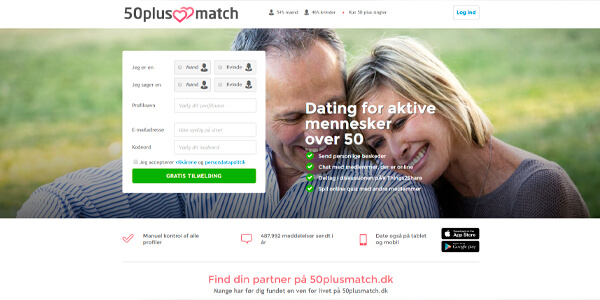 50PlusMatch.dk - dating for aktive mennesker over 50